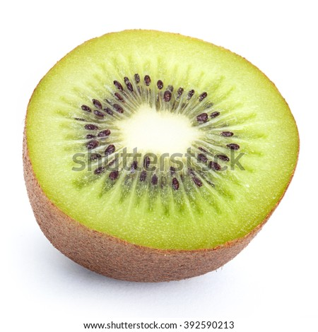 Juicy kiwi fruit isolated on white background