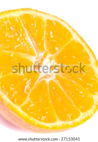 juicy orange vitamin split  tangerine half macro background