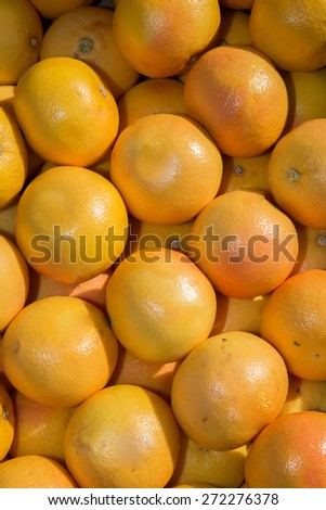 Juicy Oranges at the market  in France - stock photo