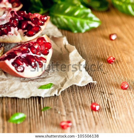 Juicy pomegranate - stock photo