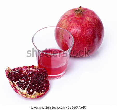 Juicy pomegranate on a white background