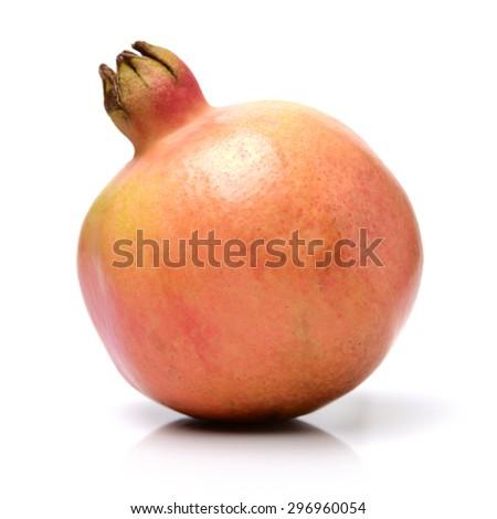 Juicy pomegranate on white background  - stock photo