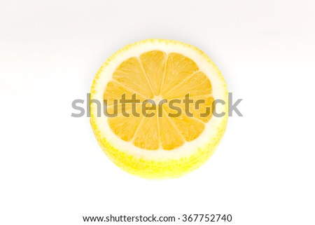 Juicy ripe lemon - stock photo