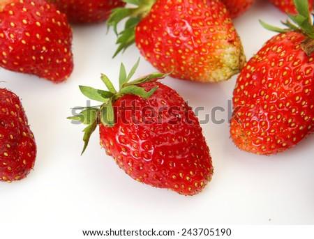 juicy Strawberry - stock photo