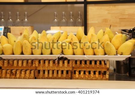 Juicy tropical Mangoes! - stock photo