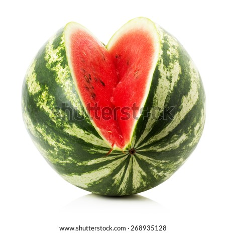 juicy watermelon isolated on a white background - stock photo