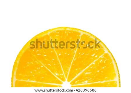 Juicy yellow slice of lemon isolated on white background, Lemon slice isolated on white, Close up of lemon fruit - stock photo