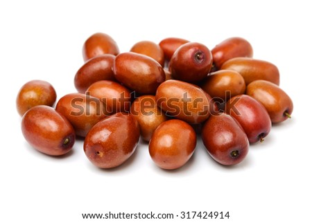 jujube or chinese date on white background - stock photo