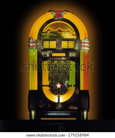 Jukebox in Studio - stock photo