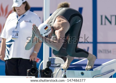 Jul 27 2009; Rome Italy; Paul Biedermann (GER) competing in the mens 200m freestyle at the 13th Fina World Aquatics Championships held in the The Foro Italico Swimming Complex.