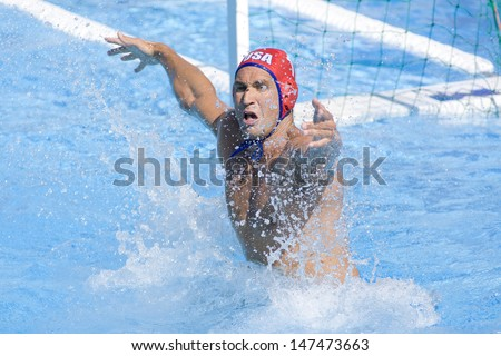 Jul 01 2009; Rome Italy; USA team goalkeeper Merrill Moses competing at the 13th Fina World Aquatics Championships held in the The Foro Italico Swimming Complex.