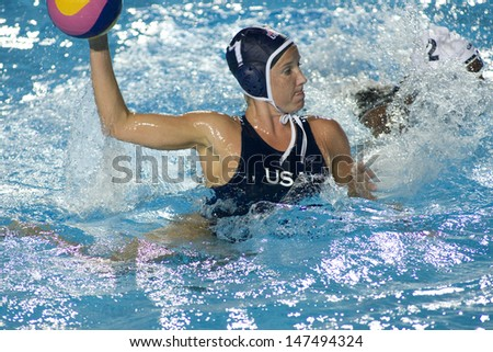 Jul 31 2009; Rome Italy; USA team player Kelly Rulon competing in the final of the womens waterpolo tournament, USA won the match 7-6, at the 13th Fina World Aquatics Championships