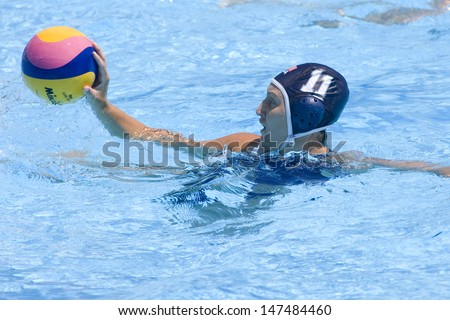 Jul 25 2009; Rome Italy; USA team player Moirah Van Norman competing in the quarter final Qualification round match between China and USA, at the Fina World Aquatics Championships