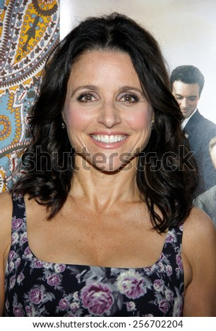 "Julia Louis-Dreyfus at the HBO's Season 3 premiere of ""Veep"" held at the Paramount Studios in Hollywood on March 24, 2014 in Los Angeles, California."