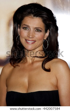 Julia Ormond at the Los Angeles premiere of 'The Curious Case of Benjamin Button' held at the Mann Village Theater in Westwood, USA on December 8, 2008. - stock photo