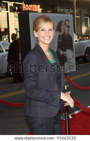 "Julia Roberts at the ""Larry Crowne"" World Premiere, Chinese Theater, Hollywood, CA. 06-27-11 - stock photo"