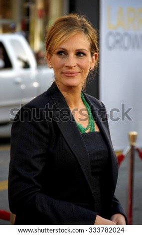 "Julia Roberts at the Los Angeles Premiere of ""Larry Crowne"" held at the Grauman's Chinese Theater in Los Angeles, California, United States on June 27, 2011.   - stock photo"