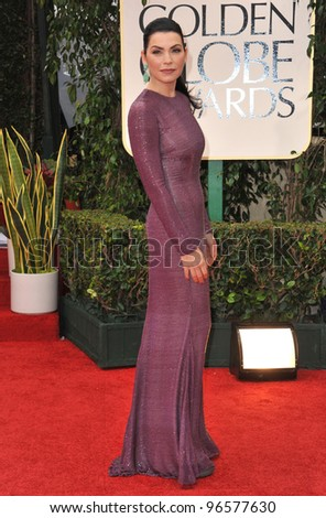Julianna Margulies at the 69th Golden Globe Awards at the Beverly Hilton Hotel. January 15, 2012  Beverly Hills, CA Picture: Paul Smith / Featureflash - stock photo