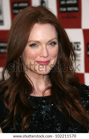"""Julianne Moore  at """"The Kids Are All Right"""" Los Angeles Film Festival Opening Night Premiere, Regal 14, Los Angeles, CA. 06-17-10 - stock photo"""