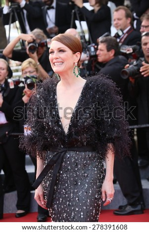 Julianne Moore attends the opening ceremony and 'La Tete Haute' premiere during the 68th annual Cannes Film Festival on May 13, 2015 in Cannes, France. - stock photo