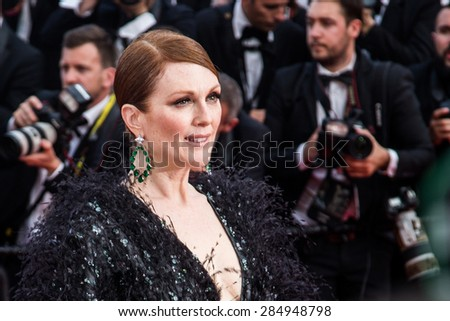 Julianne Moore attends the opening ceremony and premiere of La Tete Haute ( Standing Tall ) during the 68th annual Cannes Film Festival on May 13, 2015 in Cannes, France.