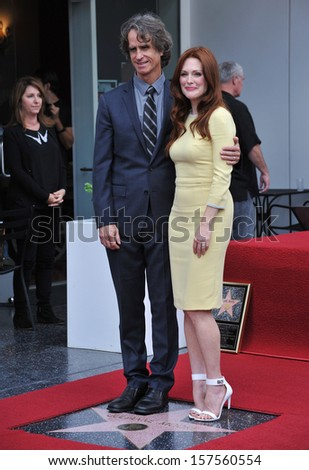 Julianne Moore & director Jay Roach on Hollywood Blvd where she was honored with the 2,507th star on the Hollywood Walk of Fame