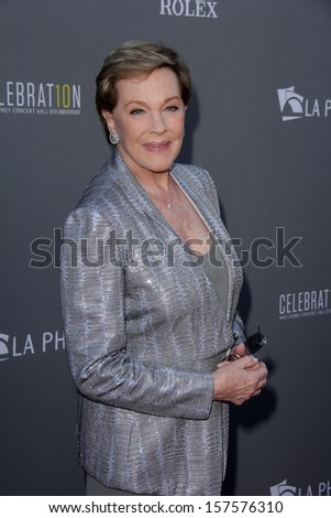Julie Andrews at the Walt Disney Concert Hall 10th Anniversary Celebration, Walt Disney Concert Hall, Los Angeles, CA 09-30-13 - stock photo