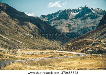 Julierpass, Switzerland - stock photo