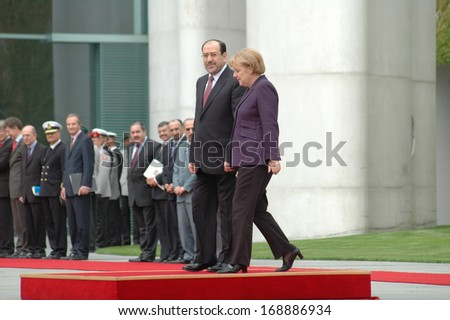 JULY 22, 2008 - BERLIN: Nouri Al-Maliki, Angela Merkel  - meeting of the German Chancellor with the Prime Minister of Iraq in the Chanclery in Berlin.
