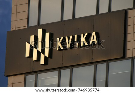 "JULY 2017 - REYKJAVIK: the logo of the brand ""Kvikas""."