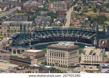 July 02. 2013. Tiger Stadium. Comerica Park. Detroit. MI, USA - stock photo