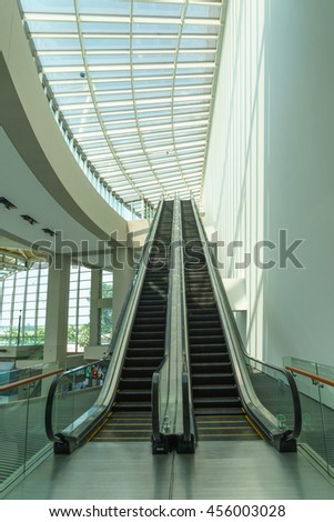 July 10, 2016 - Up and down escalators, Marina bay sand, Singapore