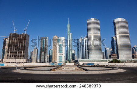 Jumeirah Lakes Towers in Dubai, United Arab Emirates - stock photo