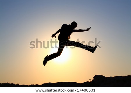 jump for joy silhouette