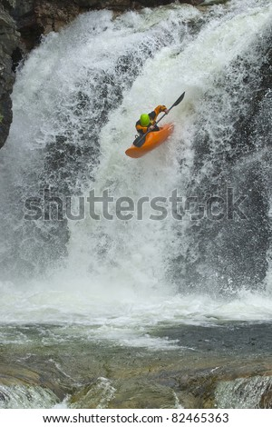Jump from the waterfall