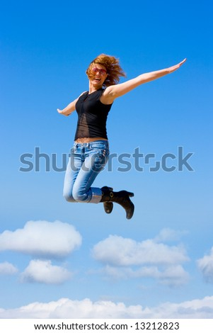 "jumping girl - See similar images of this ""Active People"" series in my portfolio"
