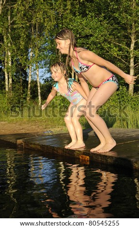 Jumping time - stock photo