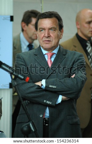 JUNE 3, 2005 - BERLIN: Chancellor Gerhard Schroeder at a reception in the Chanclery in Berlin.