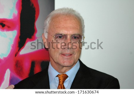 JUNE 1, 2006 - BERLIN: Franz Beckenbauer at the unveiling of a portrait painting of him in the Marie-Elisabeth-Lueders-Haus, Berlin.