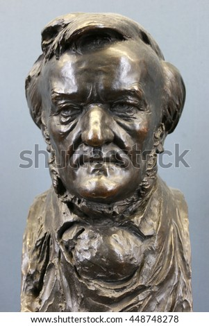 JUNE 2016 - BERLIN: the portrait bust of German classic composer and conductor Richard Wagner.