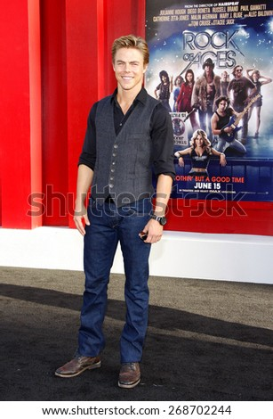 "June 8, 2012. Derek Hough at the Los Angeles premiere of ""Rock of Ages"" held at the Grauman's Chinese Theater, Los Angeles."