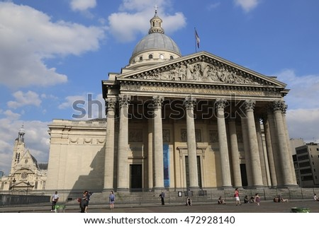June 24, 2015 - Paris, France. The Pantheon, Latin Quarter, Paris.