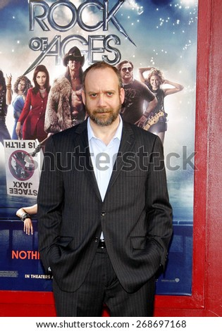 "June 8, 2012. Paul Giamatti at the Los Angeles premiere of ""Rock of Ages"" held at the Grauman's Chinese Theater, Los Angeles."