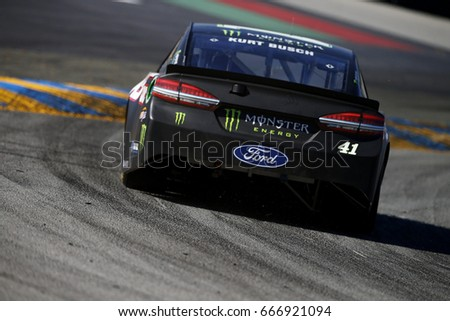 June 23, 2017 - Sonoma, CA, USA: Kurt Busch (41) takes to the track to practice for the Toyota/Save Mart 350 at Sonoma Raceway in Sonoma, CA.