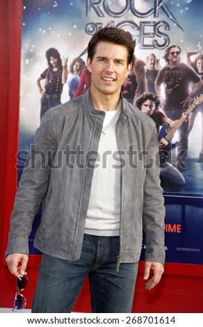 "June 8, 2012. Tom Cruise at the Los Angeles premiere of ""Rock of Ages"" held at the Grauman's Chinese Theater, Los Angeles.  - stock photo"