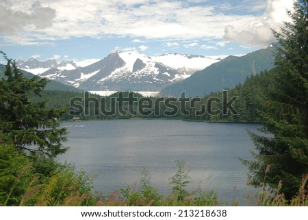 Juneau Glacier - stock photo