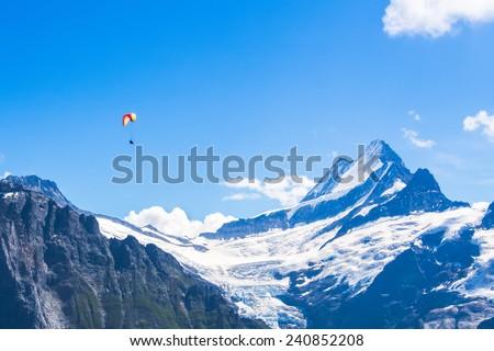 Jungfrau in Switzerland - stock photo