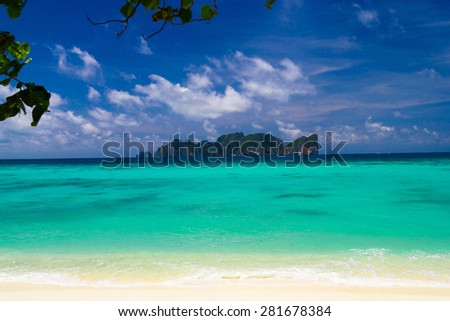 Jungle and Sea Green Getaway  - stock photo