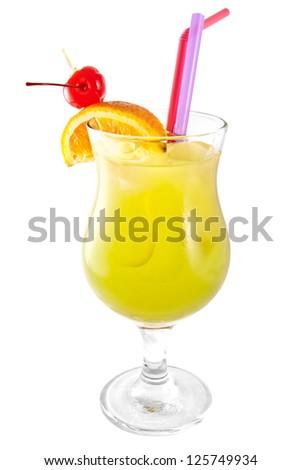 Jungle Juice cocktail isolated on white background - stock photo