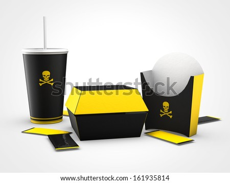 junk food is bad for health - stock photo